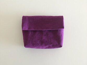 きちんとポーチ M  / purpleの画像