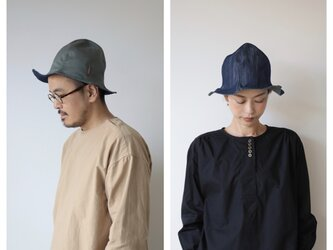 ray hat / light khaki×denimの画像