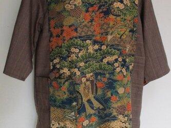 4438 花柄の着物で作ったプルーオーバーの画像