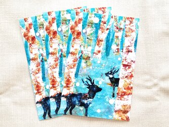北欧風冬のポストカード3枚セットの画像