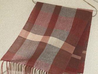 手織りストール A38の画像
