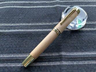 木の万年筆(カバ)の画像