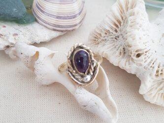【9号】brass amethyst ringの画像
