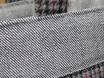 ウール千鳥格子×デニムの画像
