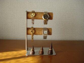 腕時計  飾る 丸パイプ2段リングスタンド4〜6本掛け腕時計スタンド  ak-design No.81114の画像