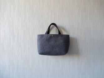 裂き織りのバッグS  チャコールグレーの画像