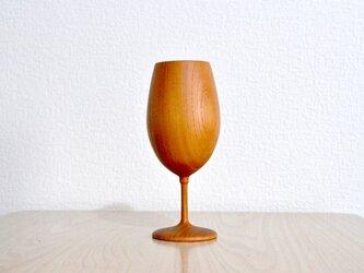 木のワイングラスの画像