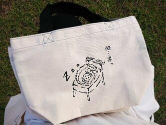 オリジナルトートバッグ【はりねずみちゃん×持ち手Black】の画像
