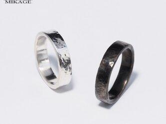 The Simplest Ring BOLD:銀925シンプルな槌目リングの画像