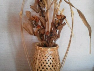 3本手つき網代編みかご(花籠)の画像