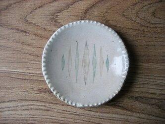 スリップ模様 丸小皿の画像