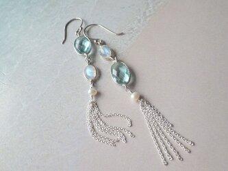 *sv925*Blue Moon Stone Seaside Earringsの画像