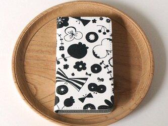 【マルチタイプ:Android と iPhone に対応】帯なし*手帳型*スマホケース「bliss (black)」の画像