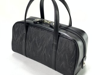 ボストンタイプのミニバッグ(黒)の画像