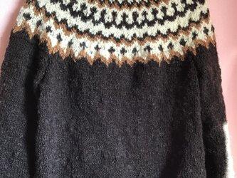 ノルディックセーター 手紡ぎの画像