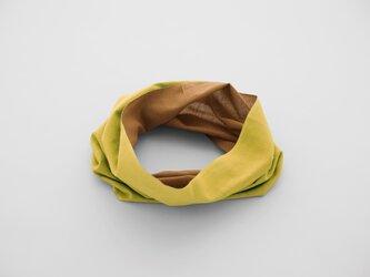 てぬぐい Oo[ワオ] Mustard × Brown 【Lサイズ】の画像