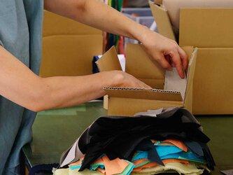 【日々価格変動あり!】リネン はぎれBOX! 切りっぱなし アート 手芸 小物雑貨 2kg 60サイズ / アソート z000iの画像
