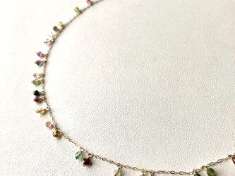 【K10】トルマリンのチェーンネックレスの画像