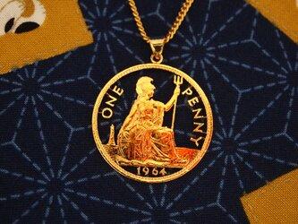 コインカットペンダン ブリタニアコインの画像