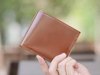 【コードバン】 馬革 「二つ折革財布 小銭入れ付き」 GK-010の画像