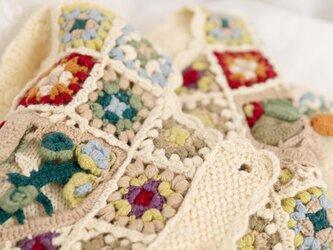 【限定】お花たっぷり ウール・ セーター ニット B00731の画像
