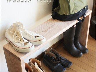 ウッドシェルフ 棚 木製 サイズ、個数オーダー可能 ナチュラル 北欧 アウトドア 玄関 靴棚の画像