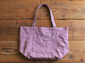 【new】hanpu A4vertical-tote : pink :の画像