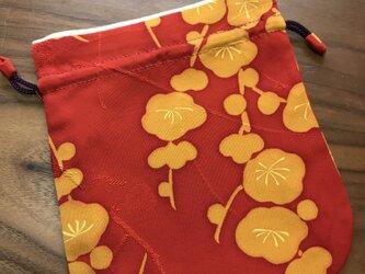 和服地の巾着(古布)の画像