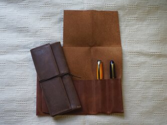 三つ折りロールペンケース(ポケット:4)の画像