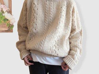 冬 枚数限定 レディース 手編み お洒落 ゆったり 刺繍 カジュアル 着痩せ おしゃれ ニット セータの画像