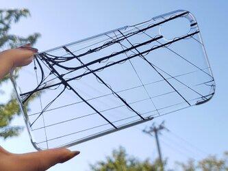 全機種対応 スマホケース クリア 電線1の画像