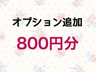 【800円】オプション追加の画像