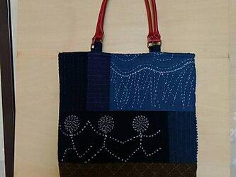 №188 古布と刺し子のバッグの画像