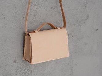 新商品キャンペーン中!2wayミニバッグ本革小さなメッセンジャーバッグショルダーバッグ 総手縫い 手持ち 肩掛けの画像