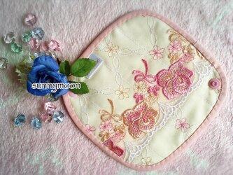 sunnymoon☆ランジェリータイプwith今治タオルの布なぷライナー「マシュマロピンクローズ」の画像