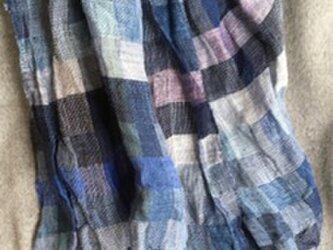 ■手織/冬のリネン(亜麻)ビックストールの画像