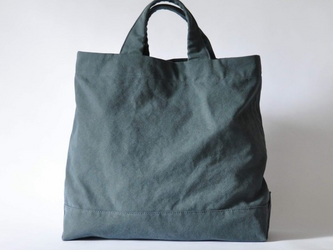eighth note - tote (washed navy) 帆布のトートバッグの画像