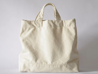 eighth note - tote (natural) 帆布のトートバッグの画像