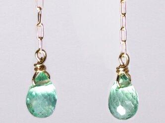 高品質コロンビアエメラルドK18ピアス・ヤリング【Pio by Parakee】Colombia emeraldの画像