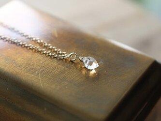 【S】ハーキマーダイアモンド<AAA>のネックレス(K14GF)の画像