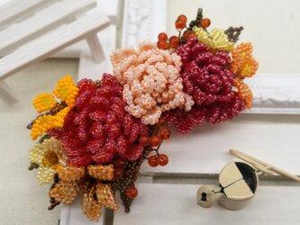 バレッタ Bouquet  (オータムダリア)の画像
