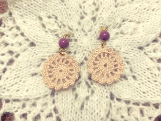 【オーダー品】かぎ針編みのイヤリング2の画像