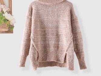 おしゃれ 着痩せ 手編み レディース セーター ニットトップス タートルニット 枚数限定 ファッションの画像
