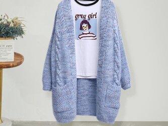 冬 手編み 着痩せ おしゃれ お洒落 レディース 着痩せ おしゃれ リネンの画像