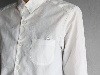001Wオーガニックコットンシャツsize2【ユニセックス】の画像