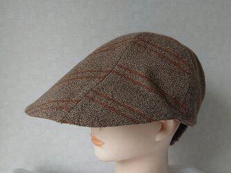魅せる帽子☆変わりブリムのリバーシブルキャップ~ブラウンの画像
