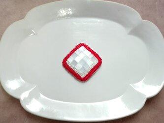 刺繍ブローチ red2の画像