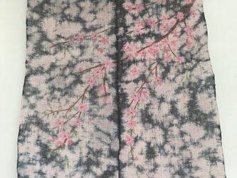 桜吹雪舞うタペストリー&テーブルクロスの画像
