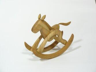 木馬のオブジェ 芦毛の画像