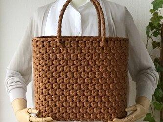 花結び編み手提げかご・深型【受注製作】の画像